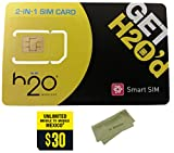 H2O H20 Wireless Micro / Dual SIM Card w/ $30 Month and HJ Wireless Cleaning Cloth. HJ Wireless Activation Kit