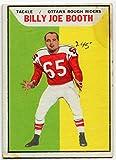 1965 Topps Billy Joe Booth Card #74 Ottawa Rough Riders Louisiana State