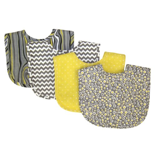 Duck Newborn Burp Cloth (Trend Lab Bib Set, Hello Sunshine, 4-Count)