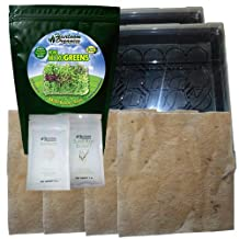 Heirloom Organics NON-GMO Complete MicroGreens Kit-MicroGreen Seed, Trays, Grow Mats, Nutrients and Guide-Food in As Little As 7 Days