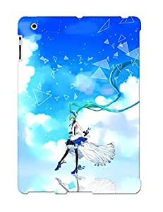 Exultantor Perfect Vocaloid 7th Dragon Aqua Hair Choker Clouds Cu Riyan Dress Hatsune Miku Headphones Ribbons Sky Thighhighs Twintails Vocaloid Case Cover Skin With Appearance For Ipad 2/3/4 Phone Case