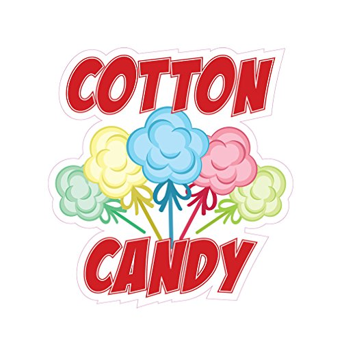 Cotton Candy Concession Restaurant Die-Cut Window Static Cling 18 inches Inside Glass