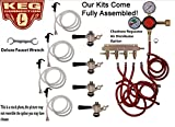 4 Faucet Party Tap Keg Kit, Commercial Tap, Taprite Regulator