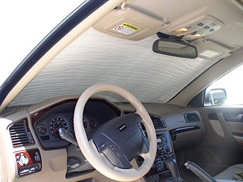 The Original Windshield Sun Shade, Custom-Fit for Volvo V70 Wagon 2001, 2002, 2003, 2004, 2005, 2006, 2007, Silver Series ()