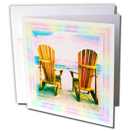 - 3dRose Adirondack Chairs - Greeting Cards, 6 x 6 inches, set of 12 (gc_24099_2)