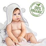 Organic Bamboo Hooded Baby Towel – Soft, Hooded Bath...
