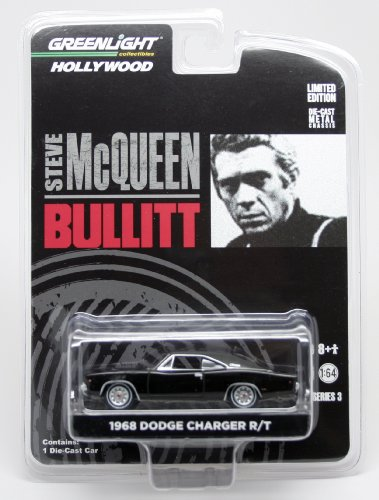 1968 DODGE CHARGER R/T from the movie BULLITT Greenlight Collectibles 1:64 Scale Hollywood Series 3 Die Cast Vehicle Series Diecast Vehicle