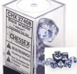 Chessex Nebula Black 7 piece dice set CHX-27408