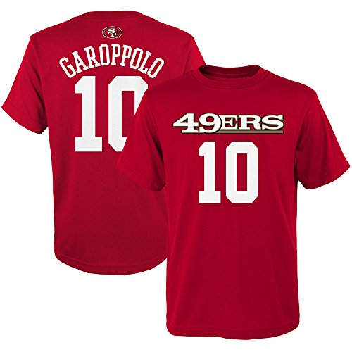 Jimmy Garoppolo San Francisco 49ers #10 Red Youth Name & Number Shirt Medium 10/12 (San Francisco 49ers Authentic Jersey)