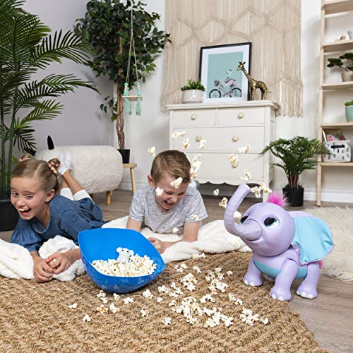 51tq7ilANaL - Wildluvs Juno My Baby Elephant with Interactive Moving Trunk & Over 150 Sounds & Movements