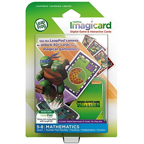 LeapFrog Teenage Mutant Ninja Turtles Imagicard Learning Game (for LeapPads and LeapFrog Epic) by LeapFrog Enterprises (Leap Pad Games Ninja Turtle)