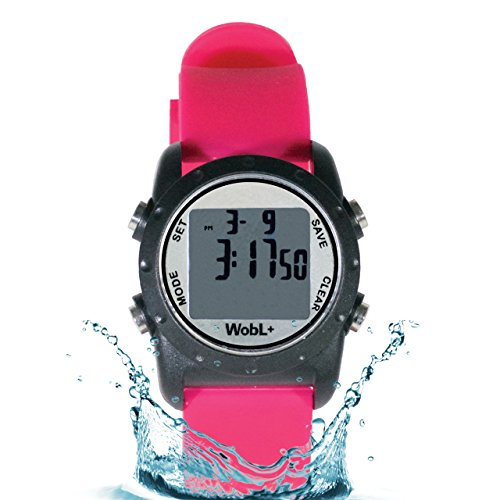 WobL+ Waterproof Vibrating Watch (PINK), 9 Alarms, Potty Reminder, Pill Reminder by WobL Watch