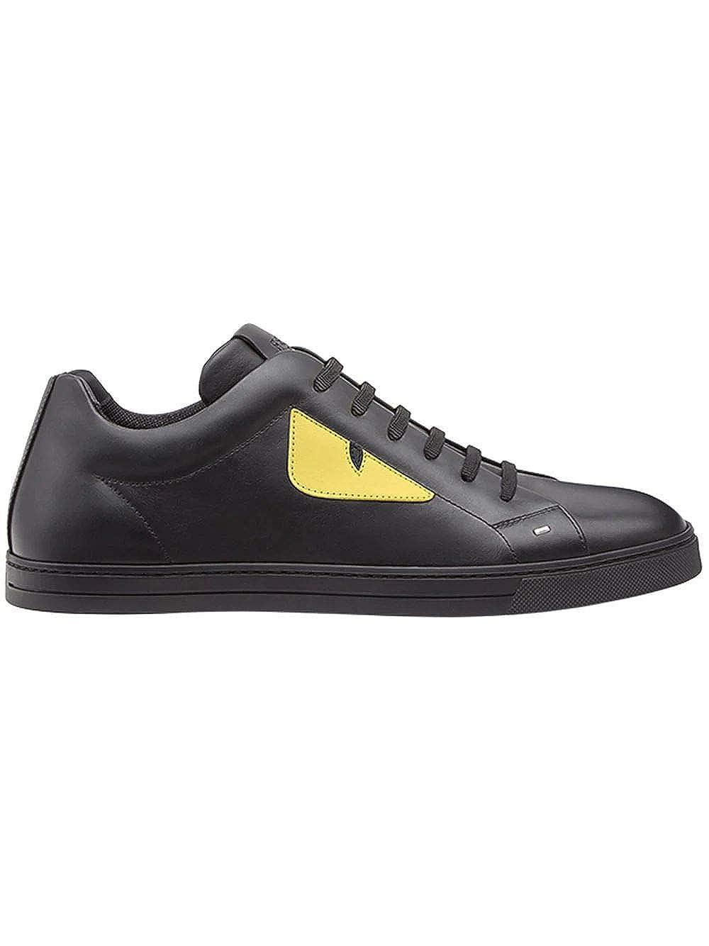 - FENDI 7E1071TTYF07OM - Hauszapatos de Piel para Hombre, color negro