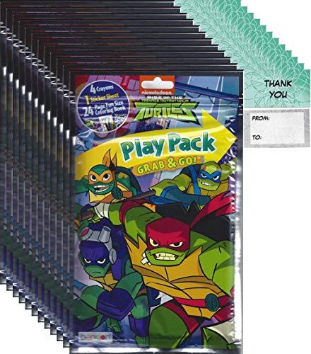 Ninja Turtles Goodie Bags (Teenage Mutant Ninja Turtles Grab n Go Play Packs Children's Party Favor Pack Bundle (12)