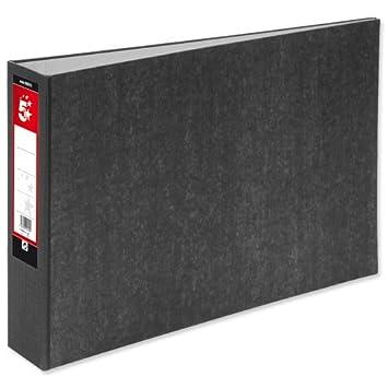 5 star 930515 - Paquete de 2 archivadores de anillas con palanca, negro: Amazon.es: Oficina y papelería