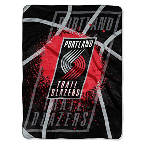 The Northwest Company Officially Licensed NBA Portland Trail Blazers Shadow Play Plush Raschel Throw Blanket, 60