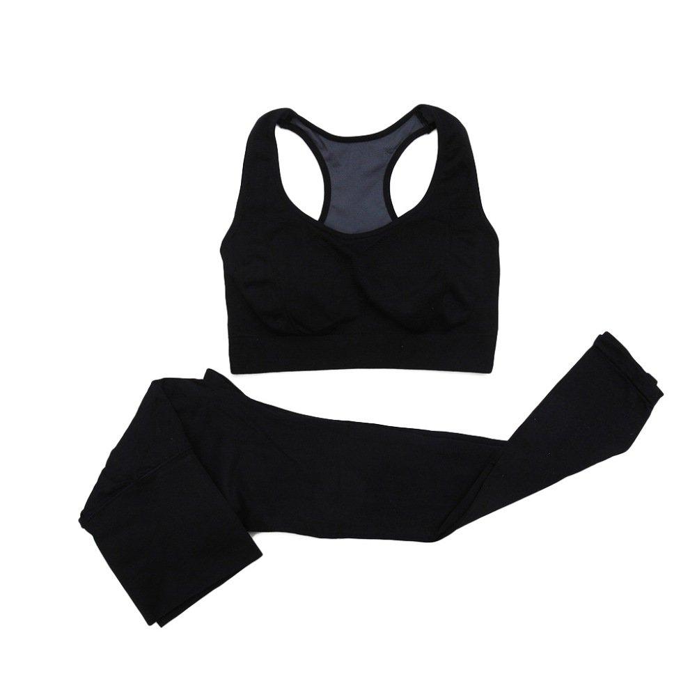 BOBORA Donne senza giunte Sport reggiseno + Pantaloni Leggings Yoga Fitness allenamento tuta BON-IT-0273