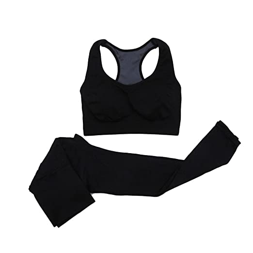 529f6364b6b Image Unavailable. Image not available for. Color  Daxin Women s Outdoor Sports  Gym Running Yoga 2-piece Set Pants Leggings Bra Set