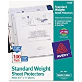 Avery Top Load Standard Polypropylene Sheet Protectors, Semi-Clear, 100/Box (75536)