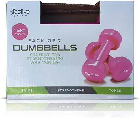 Pack de 2 rosa 1,5 kg mancuernas perfecto para fortalecimiento ...