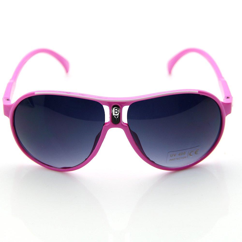 Estone Fashion Cute Children Girl Boy Baby Kids AC Lens PC Frame UV 400 Sunglasses New (Pink)