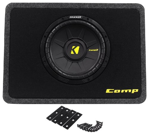 Kicker 40TCWS104 10-Inch 600W Thin Mount Loaded Subwoofer with Box