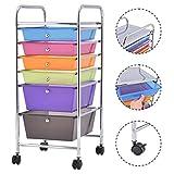 New 6 Rainbow Drawer Rolling Storage Cart Tools Scrapbook Paper Office School Organizer