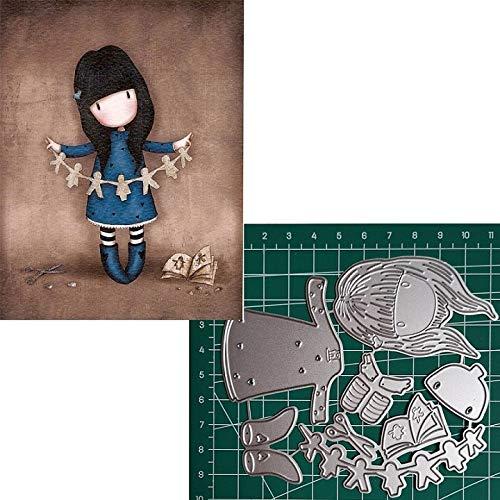 - MeikoTan 1 Set Cute Girl Metal Cutting Dies DIY Paper Lovely Baby Girl Doll Die Cuts for Scrapbooking Embossing and Card Making Cut Dies