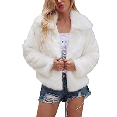 Amazon.com: AOJIAN Women Jacket Long Sleeve Outwear Warm Fuzzy Open Front Ladies Solid Fashion Coat White: Clothing
