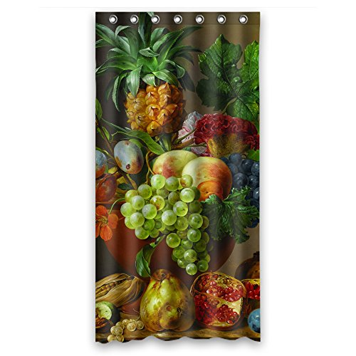 NASAZONE Polyester Bath Curtains Of Famous Classic Art Painting Flowers Blossoms For Boys Valentine Gf Kids Hotel. Rust Proof Width X Height / 36 X 72 Inches / W H - Mailbox Classic Gaines