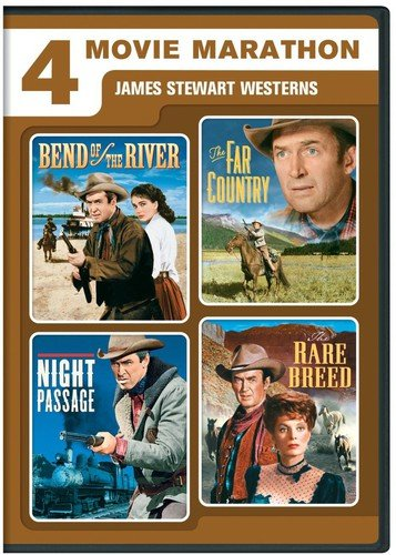 4 Movie Marathon: James Stewart Western Collection (Bend of the River / The Far Country / Night Passage / The Rare Breed) ()