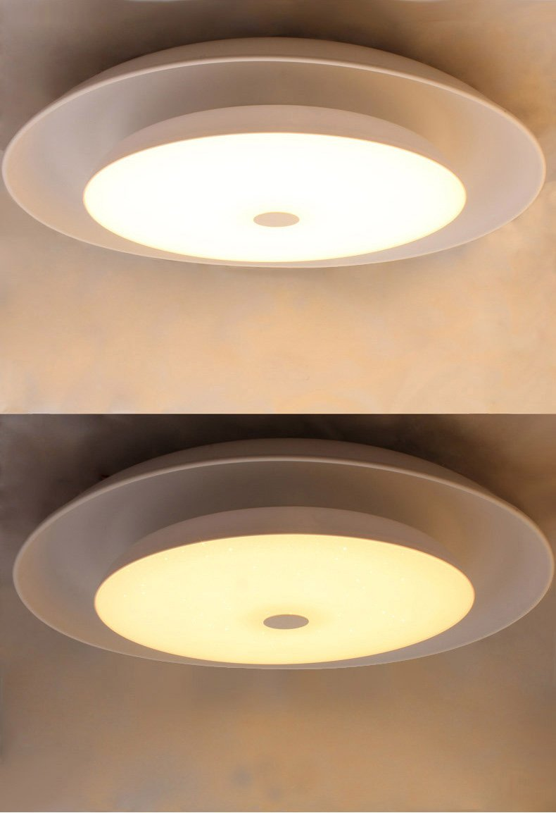 Runde LED Deckenleuchte mit Fernbedienung Dimmer Farbwechsel Nachtlicht Ø 65cm