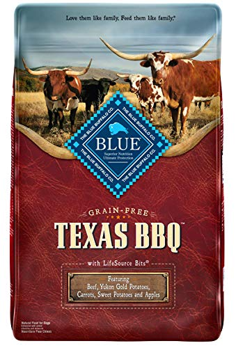 Blue Buffalo Blue Texas BBQ Natural Adult Dry Dog Food with USA Beef (1 Count), 22 lb For Sale