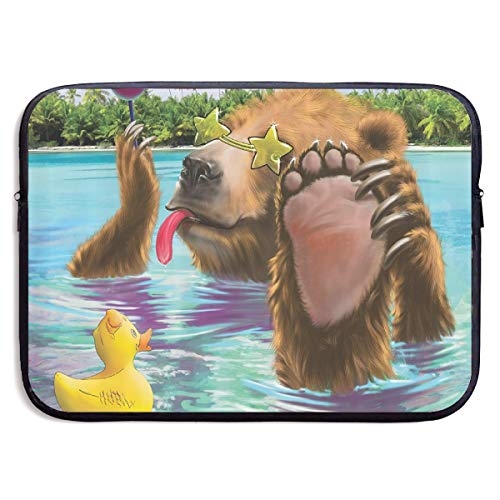 Lollipop Bear with Sunglasses Funny Duck Sea Laptop Sleeve Case Bags Sleeve Cover Bag Protection Tablet Case for 13 Inch Computer