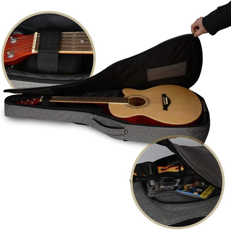Rziioo 40 Pulgadas de tamaño Completo Acolchado Guitarra Funda con Correa para el Hombro Mochila, manija 2 Carry: Amazon.es: Deportes y aire libre