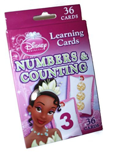 Disney Princess Numbers and Counting Learning/Flash Cards (Dark Pink Box) (Flash Princess Cards)