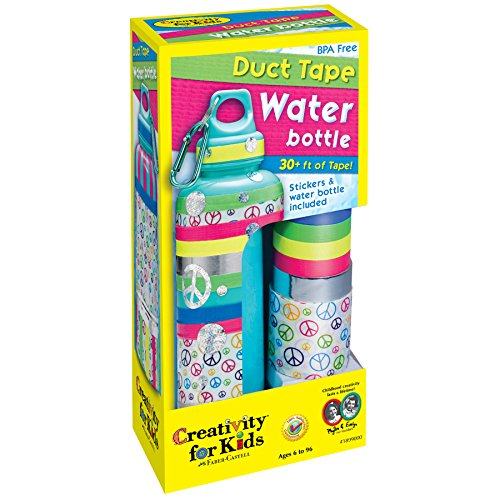 (Creativity for Kids Duct Tape Water Bottle - Decorate 1 BPA Free, Reusable Water)