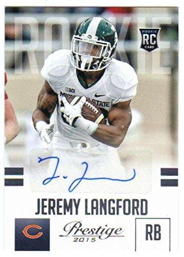 Football NFL 2015 Panini Prestige Rookies Signatures #248 Jeremy Langford NM Near Mint Auto Bears (Nfl Card Signature)