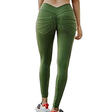 Unie Leggings Push Absorber Poches Up La Sueur Avec Sport Fesse Yoga Pantalon Couleur Femme iuPlwXZTkO