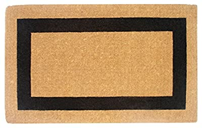 Creative Accents Single Picture Black Frame Heavy Duty Coir Doormat