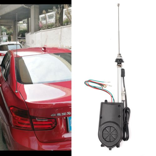 YONGHONG Auto Car Power Electric Aerial Automatic Antenna Mast AM FM Radio Universal