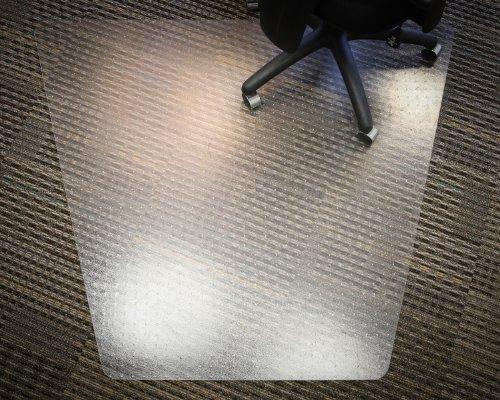 - Mammoth Corner Desk/L-Desk PVC Plastic Chair Mat for Medium Pile Carpeting, 48x60 Inches (V4660TMP)