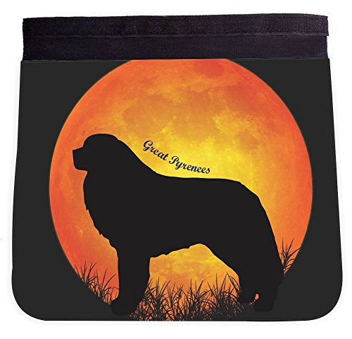 Great Pyrenees Dog Silhouette By Moon Design Front Interchangeable FLAP for Premium UKBK BackPack - FLAP ONLY -