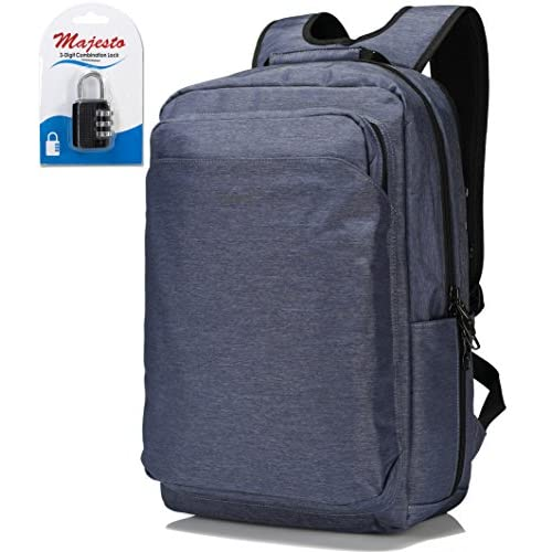 ... Water Resistant Small Padded Ergonomic Light Professional Blue +  Padlock Bundle durable modeling. Business Laptop Backpack for 14 Inch  Notebook for ... e3cf2c113b