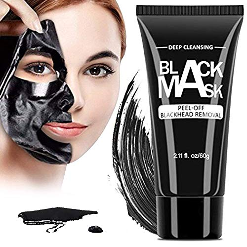 Blackhead Remover Mask Strips - Black Blackhead Remover Mask, Activated Charcoal Peel Off Mask Deep Cleansing Facial Mask for Face and Nose