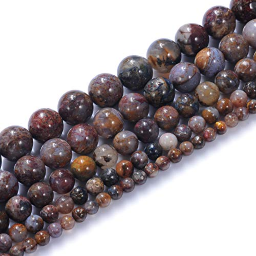 "Natural Stone Beads 10mm Pietersite Beads Gemstone Beads Round Loose Beads Crystal Energy Stone Healing Power for Jewelry Making DIY,1 Strand 15"""