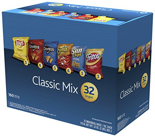 Frito Lay Classic Variety Pack, 1 Ounce Bag, 32 Count