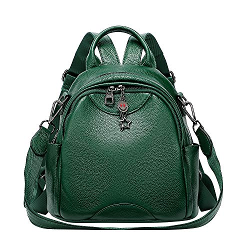 ALTOSY Women Ladies Real Leather Backpack Purse Fashion Bag Casual Satchel Rucksack