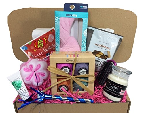Bath Bomb Set Spa Birthday Gift Basket Box for Her-Women, Mom, Aunt, Sister or Friend - Unique (Unique Birthday Gift Baskets)