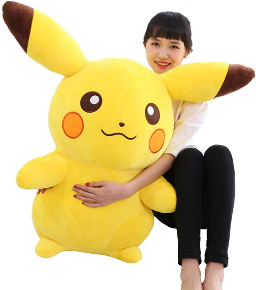 LCCYJ Pikachu Juguete de Peluche Comodidad Almohada Juguetes Muñecas Decoración Hogar cumpleaños día de San Valentín Regalos(35cm-90cm),Yellow,70cm